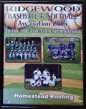 ridgewood baseball sponsor homestead roofing